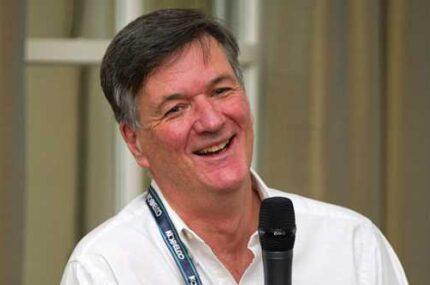 Robert Brown at microphone