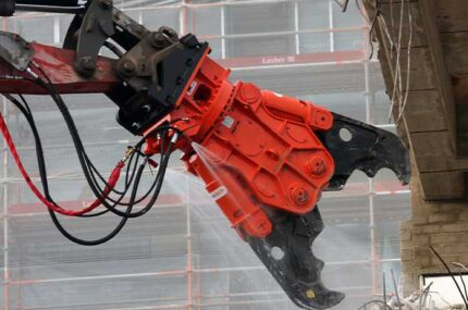 NPK concrete crusher close up